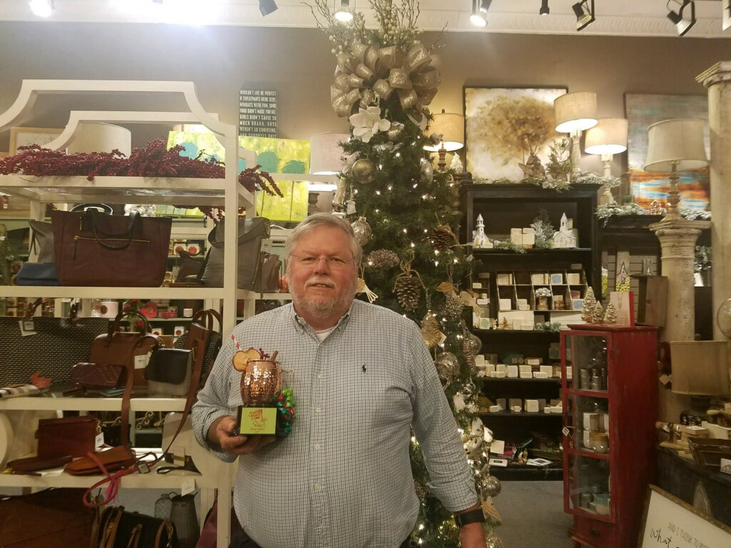 Picture: Jim Brodie, co-owner of Pimento's who made the winner cider, with the Cider Cup.