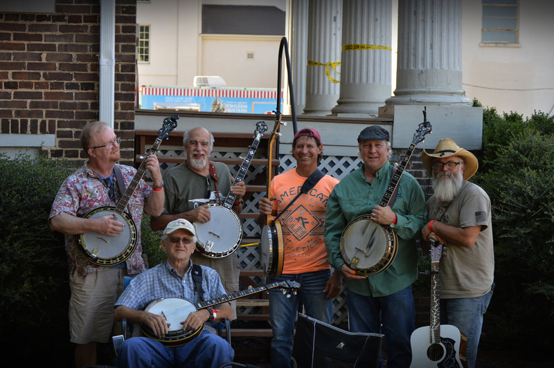 Some great banjo pickers at the Fiddlers Convention in Athens Al.