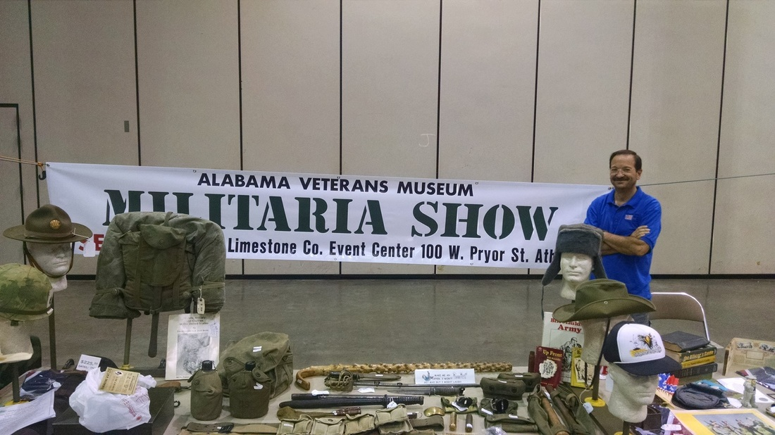 Annuall Militaria Show featuring guns, ammo, uniforms and more