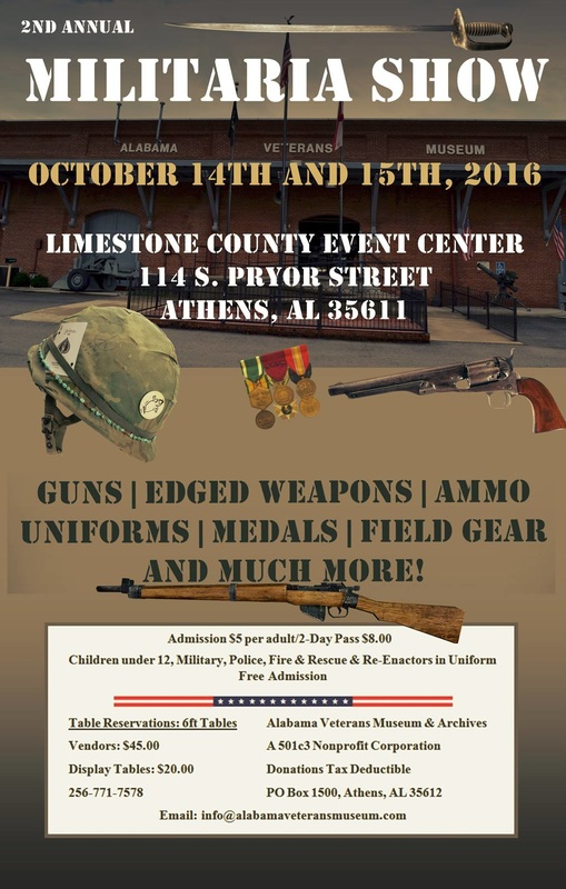 Militaria Show at the Alabama Veterans Museum